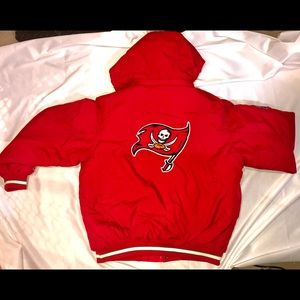 Red Tampa Bay Buccaneers Reebok Jacket Large NFL